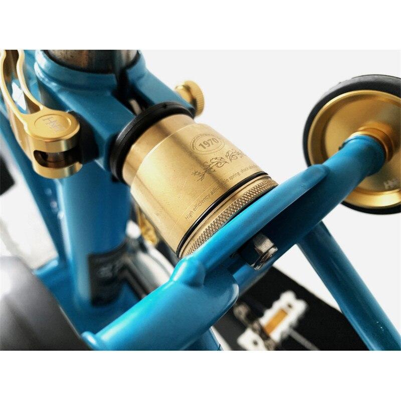 MULTI-S медный амортизатор для велосипеда brompton задний амортизатор подвески fit 75-105 кг