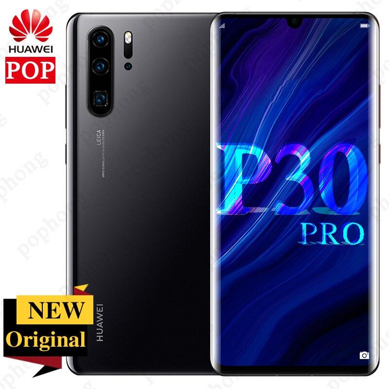 Original huawei p30 pro telefone móvel 6.47 polegada oled kirin 980 octa núcleo android 9.1 nfc 2340*1080 huawei supercharge 4200 mah