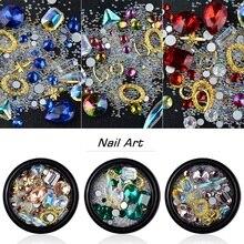 Nail Rhinestones Shining Crystal Colorfull Multi-Size Strass Acrylic Diamond Spirit Stones Gem Glitter Nails Art DecorationTool