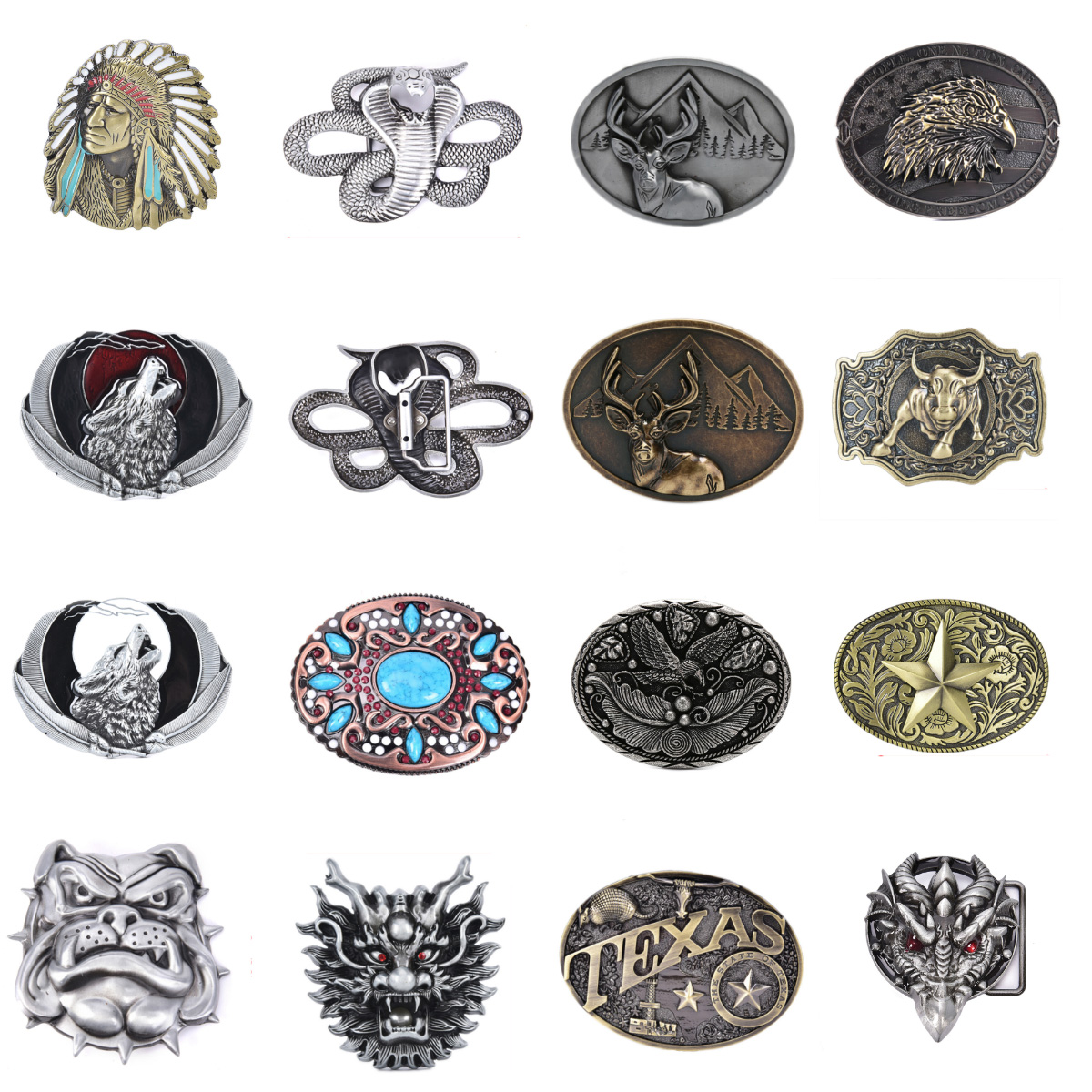 Mens'  WesBuck  Belt Buckle For Men Carpenter Mechanic Cowboy And Cowgirl Metal Tool Western Buckles Marvel