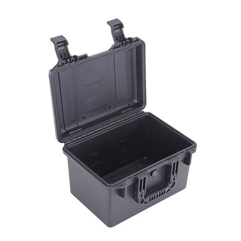 Caixa de Ferramentas de Plástico de Pouco Caixa de Ferramentas de Armazenamento Estojo de Transporte Peso Segura Pequeno Duro Cor Preta Abs