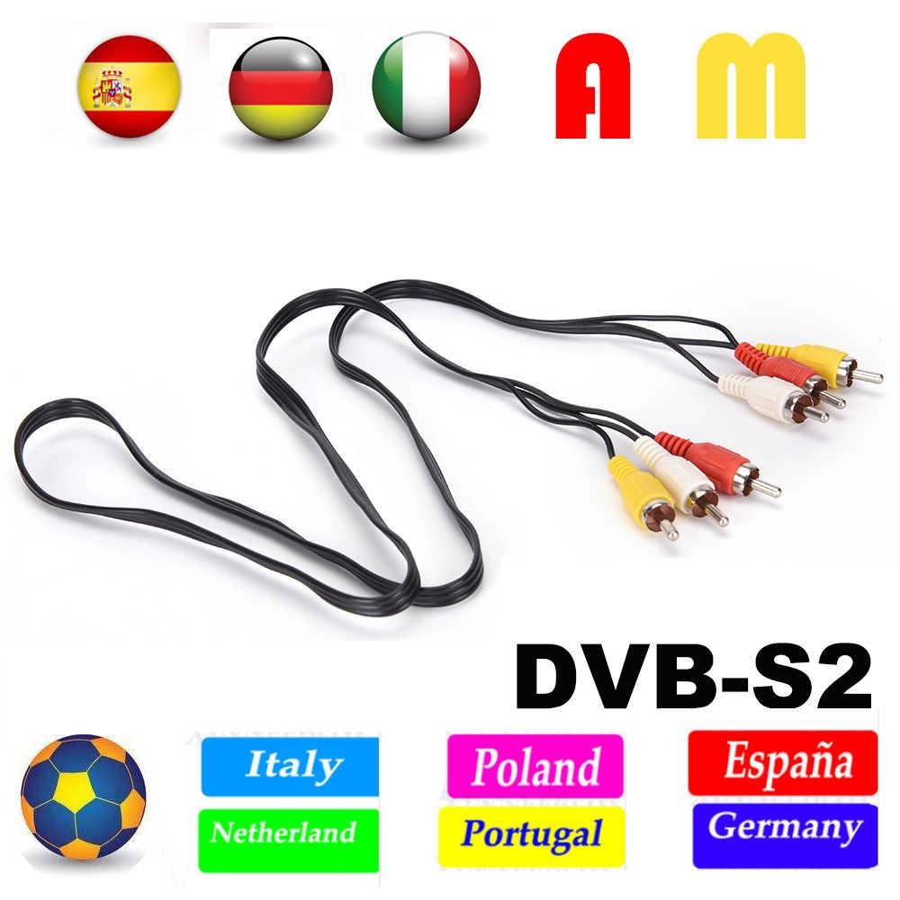 Satxtrem Cccam espa serveur HD 10 lignes 1 an Europe Portugal pologne Codigos espagne pour DVB S2 récepteur Satelite décodeur