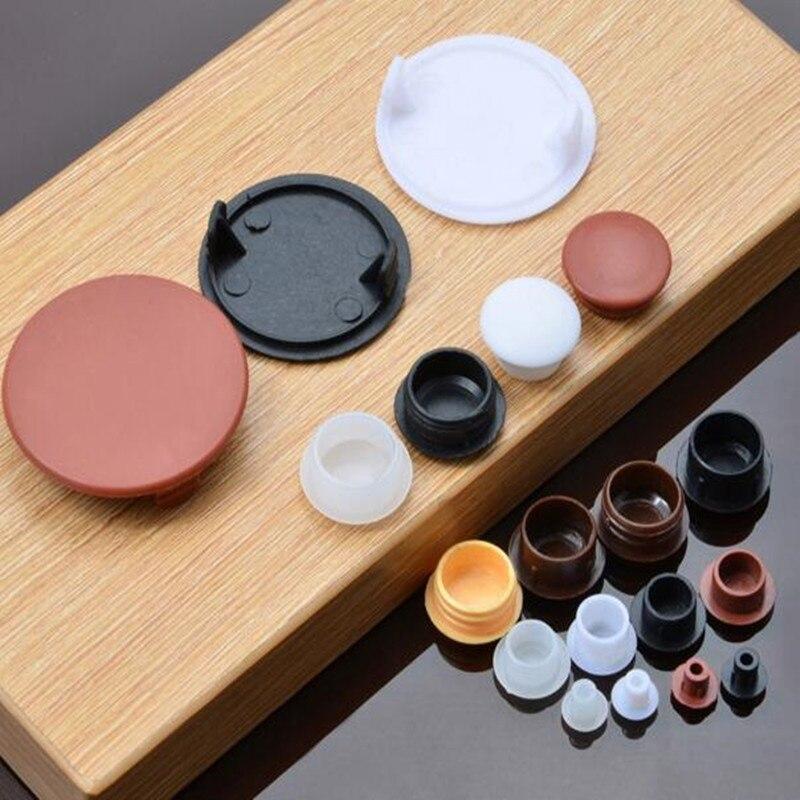 20pcs-50pcs/lot Plastic  Decoration Furniture Cap Cupboard  Cabinet Screw Hole Cover  Round Vents Hardware Accessories