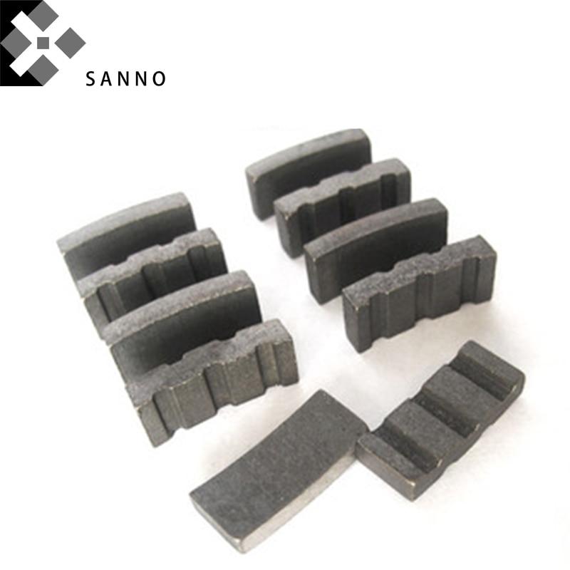 20pcs Turbo Diamond Concrete Segments Core Drill Bit Welding Diamond Cutting Tool Segment For Granite Concrete Marble