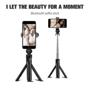Image 2 - Gosear Portable extensible pliable Bluetooth tenu dans la main Selfie support pour téléphone bâton trépied support monopode pour Android IOS accessoire