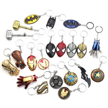 Marvel Jewelry The Avengers 4 Loki Scepter Keychain Iron Man Thor's Hammer Mjolnir Stormbreaker Axe Key Chain for Men Jewelry(China)