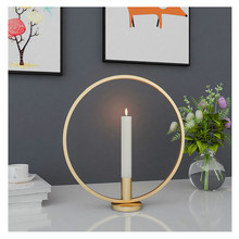 3 Styles Metal Candle Holders Black/Gold Rack Round Iron Candlestick Home Christmas Party Table Centerpiece Decoration
