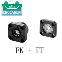1 Set FK10 12 15 20 25 30 FF10 12 15 20 25 30 Fixed Floated End Supports Bearing Mounts for Ball Screw SFU1204 1604 1605