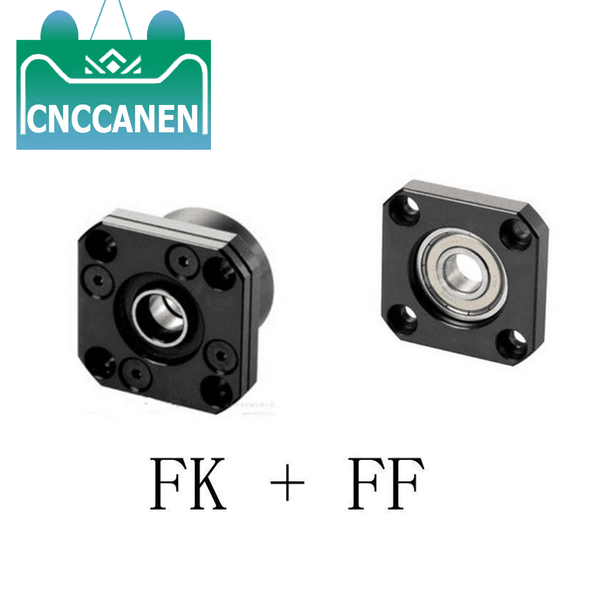 1 Set <font><b>FK10</b></font> 12 15 20 25 30 FF10 12 15 20 25 30 Fixed Floated End Supports Bearing Mounts for Ball Screw SFU1204 1604 1605 image