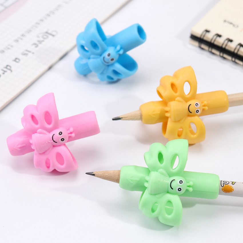 1PC Butterfly Style Three Finger Writing Corrector Pencil Grip Children Kids Learning Holding Device Correcting Pen Holder Postu