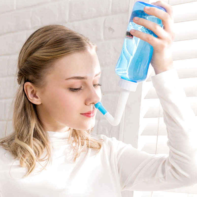 300 ミリリットル & 500 ミリリットル大人子供鼻洗浄クリーナー鼻プロテクターきれいに湿ら子大人回避アレルギー鼻炎 Neti ポット