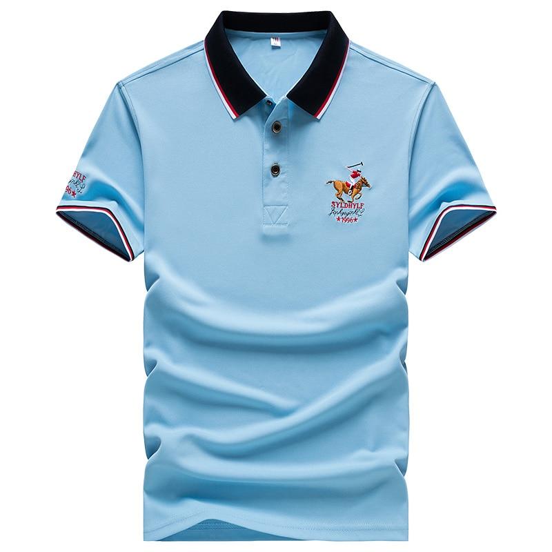 DARPHINKASA2020 Summer New Men Polo Shirt Embroidery Polo Shirt Men Casual Polo Shirt Solid Color Men Short Sleeve 3