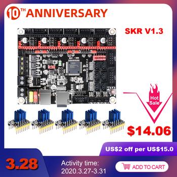 BIGTREETECH SKR V1 3 32 Bit Smoothieboard 3D drukarki 32bit płyta sterowania części vs mks gen L Sgen L TMC2130 tmc2209 tmc2208 a4988 tanie i dobre opinie BIQU Płyta główna SKR V1 3 32Bit Board 4-layer PCB ARM Cortex-M3 CPU LPC1768 DC12V-DC24V 5A-15A 2 8 TFT 3 5 TFT LCD2004 LCD12864