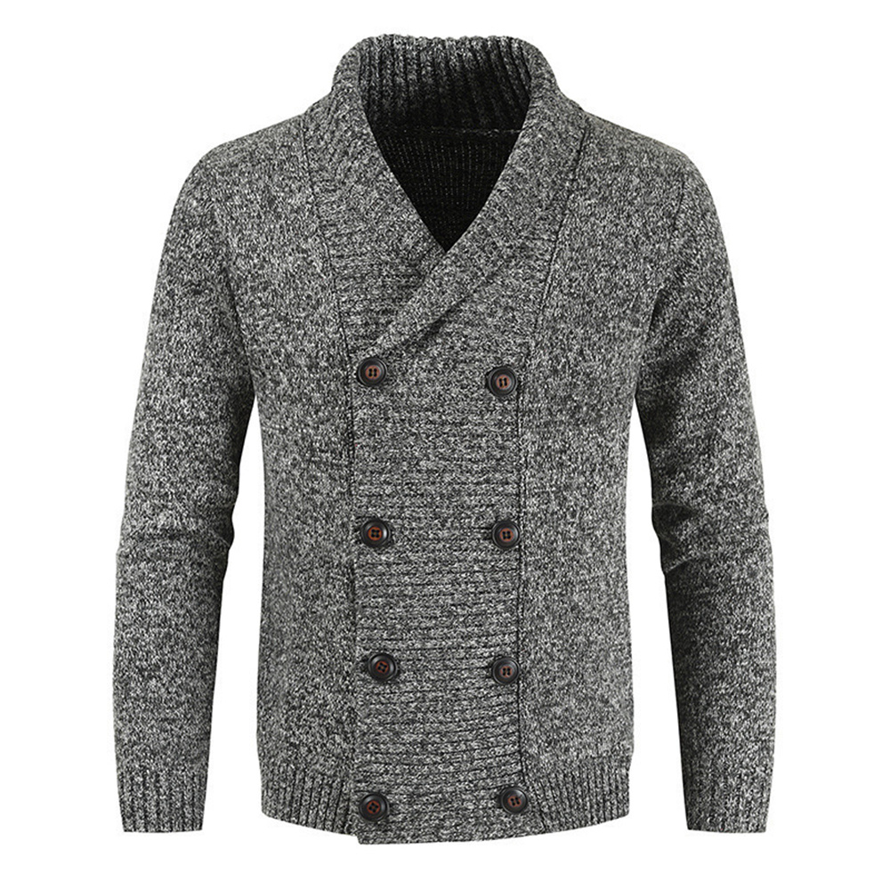 Men Solid Color Sweater Plus Size 3xl Autumn Spring Men's Sweaters Fashion Casual Youth Double-breasted Cardigan Sweater Tops