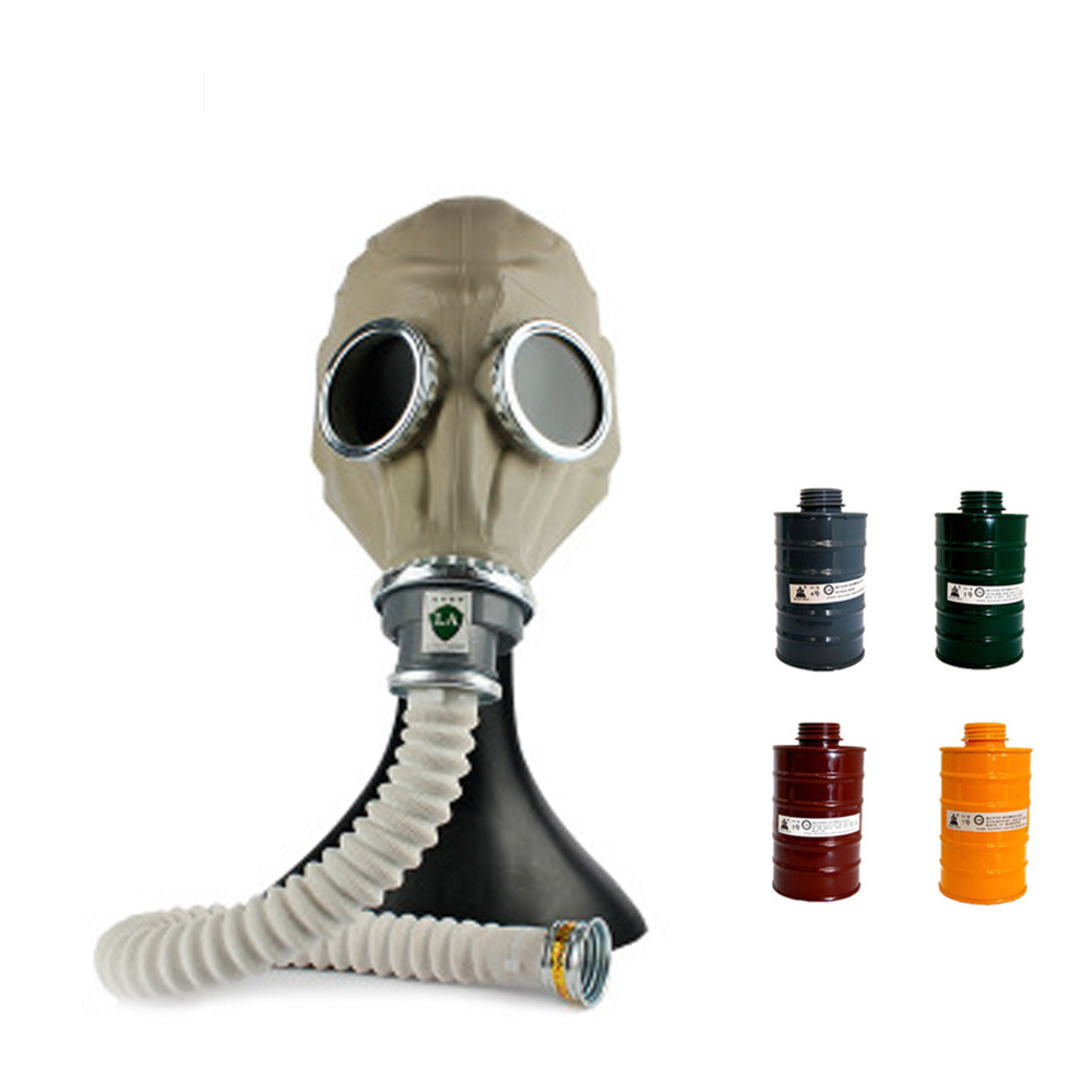 Anti Gas Mask Painting Spray Military Army Chemcial Silicone Respirator Fire Exercise Pesticide Protection Full Face Mask