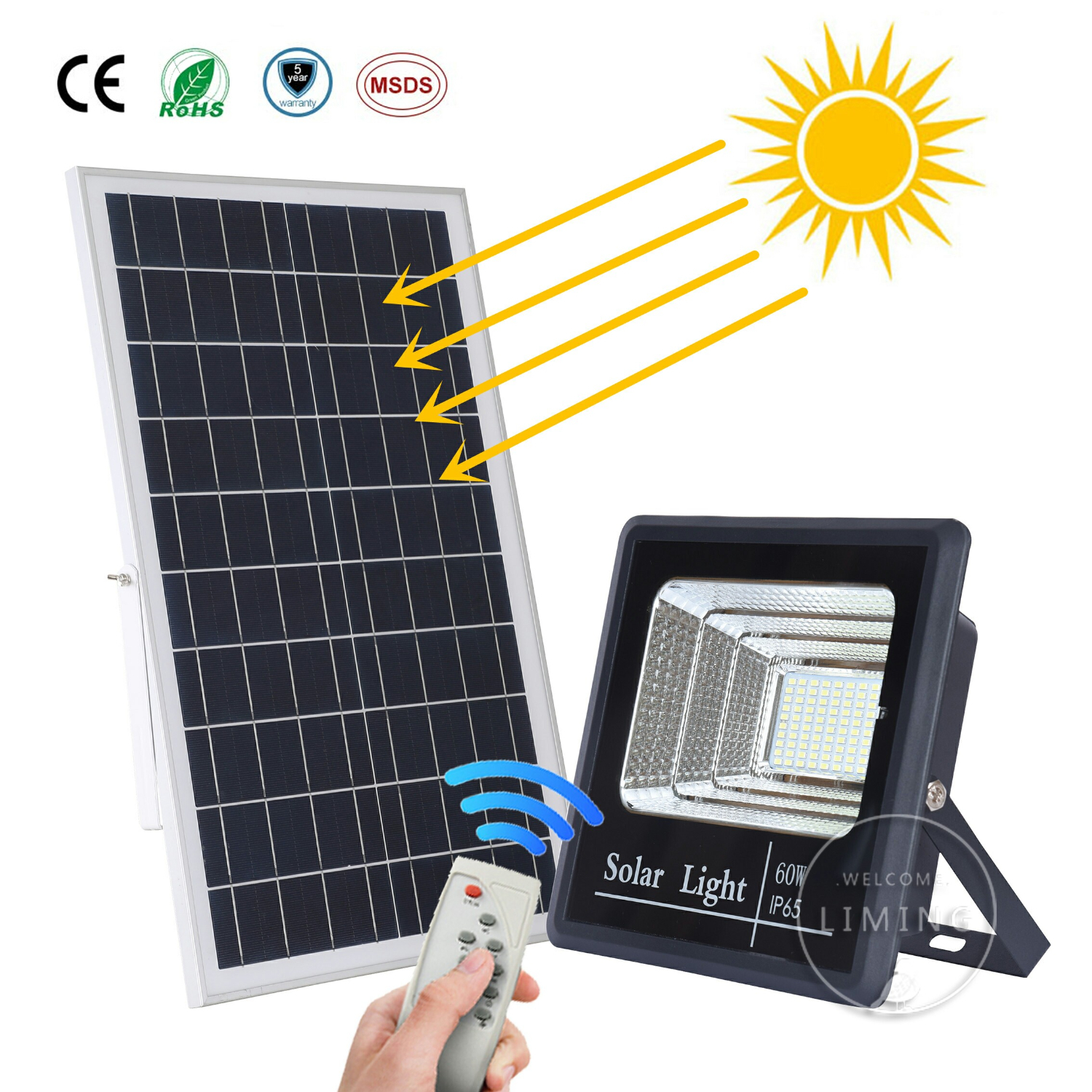 Led Flood Light Outdoor Solar Floodlight Spotlight Powered Emergency Security Wall Lamps Reflector Ip65 Waterproof Garden Lawn