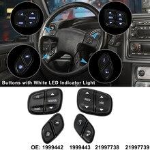 X autohaux botões regulador de volante volume interruptor controle volume rádio para chevy silverad gmc yukon hummer h2 avalanche