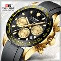 TEVISE Лидирующий бренд автоматические механические мужские часы модные Календарь многофункциональные светящиеся водонепроницаемые спорти...