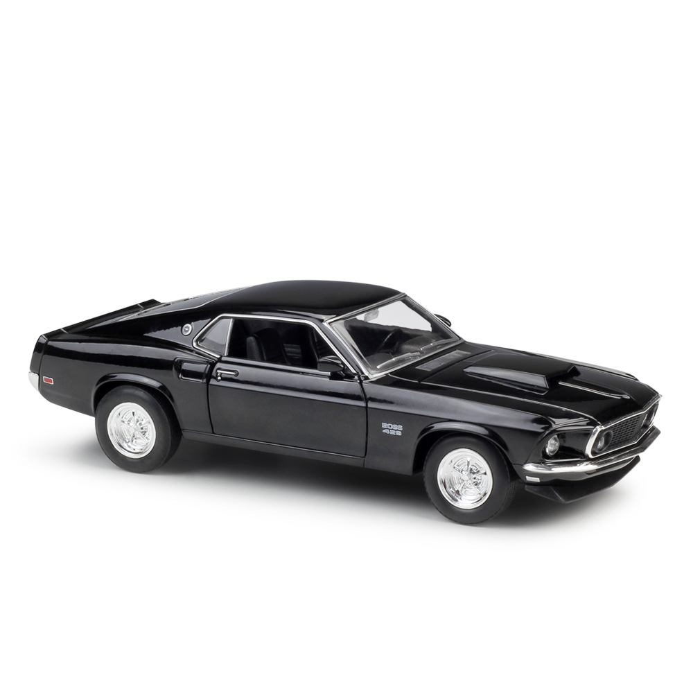 WELLY 1/24 Scale Classic Car Model 1969 <font><b>Ford</b></font> <font><b>Mustang</b></font> Boss 429 Diecast Metal Car Model Toy For Collection,Gift,Kids image