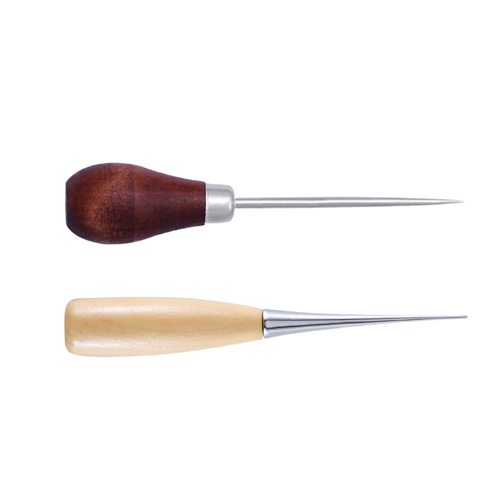 LMDZ-2pcs-Wooden-Handle-Awls-DIY-Leather-Tent-Sewing-Awl-Pin-Punch-Hole-Shoes-Repair-Tool
