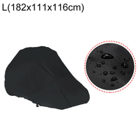 1pc Black Tractor Lawn Mower Cover Household Merchandises Protector Dust Rain Proof Auto Accessories Oxford Cloth