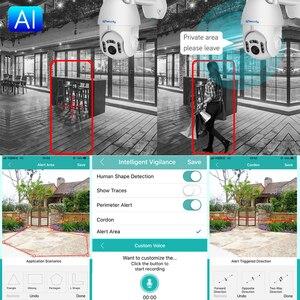 Image 2 - 1080P наружная Wi Fi камера с автоматическим отслеживанием умная беспроводная домашняя камера безопасности PTZ CCTV Аудио скоростная купольная IP камера видеонаблюдения iCSee