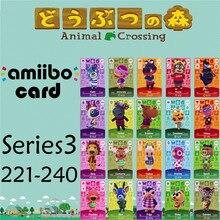 Пересечение животных подлинных данных новые горизонты игры Марио карты для NS переключатель 3DS игра набор NFC-карты выводятся в ряд series3 221-240 матовый материал