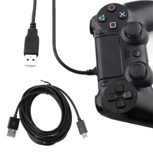 Long 3 Meter Micro USB Charge Charging Power Cable For PS4 Controllers