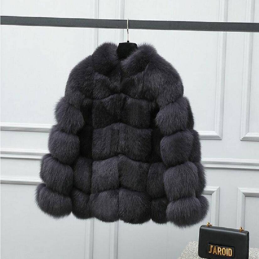 Natural Fox Fur Coat Real Fox Fur Coat Removable Sleeves Four-in-one Fur Coat High-quality Fur-made Coats European Warm Winter C