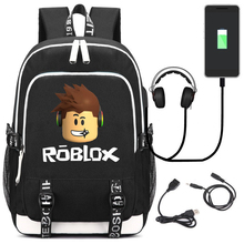 Roblox Rugzakken Voor School Multifunctionele Usb Opladen Voor Kinderen Jongens Kinderen Tieners Mannen Schooltassen Reizen Laptop Mochilas