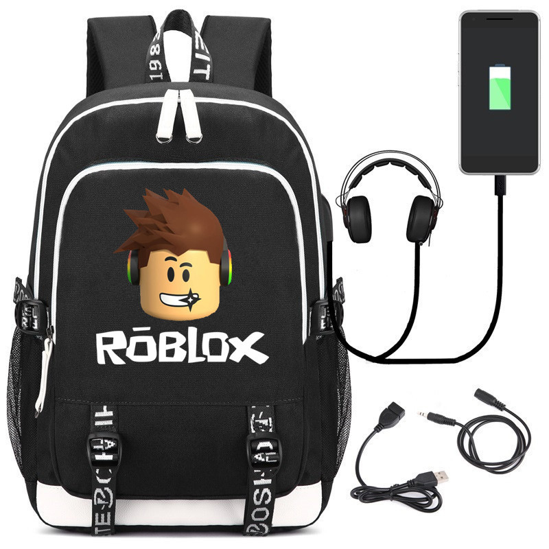 Roblox Backpacks For School Multifunction USB Charging For Kids Boys Children Teenagers Men School Bags Travel Laptop Mochilas