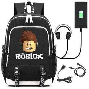 Image 1 - Roblox backpacks for school multifunction USB charging for Kids Boys Children teenagers Men School Bags travel Laptop mochilas