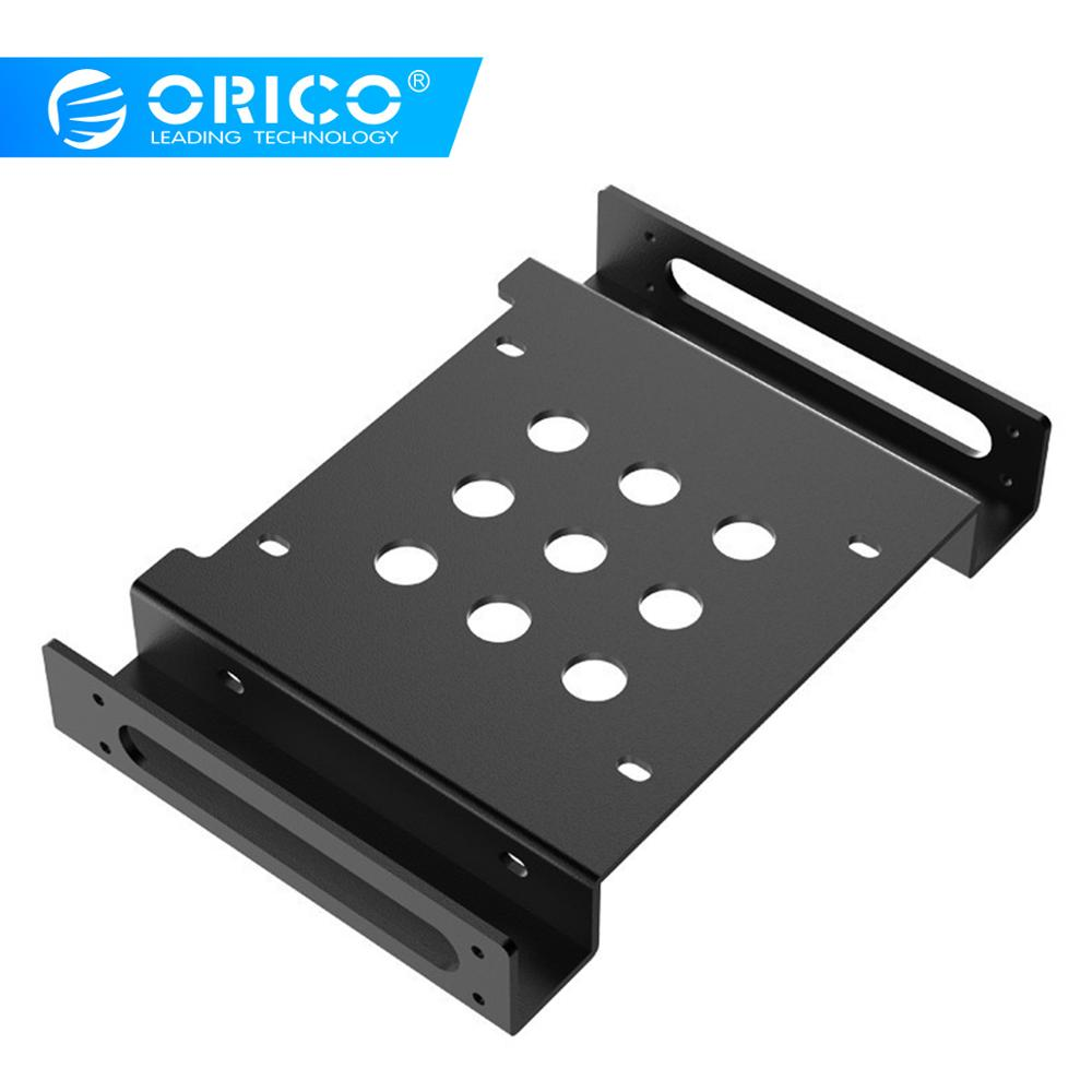 ORICO Aluminum <font><b>5.25</b></font> inch to <font><b>2.5</b></font> or 3.5 inch Hard Drive HDD SSD Converter <font><b>Adapter</b></font> Mounting Bracket Hard Drive Cage image