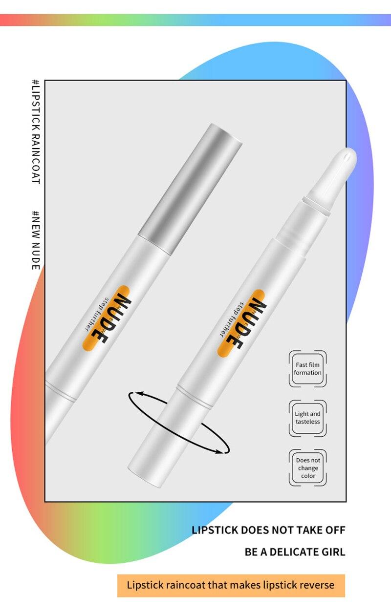 Lábio gloss duradouro não-desvanecimento impermeável batom impermeável