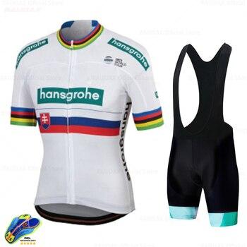 2020 Boraing Hansgrohe Pro equipo verano Ciclismo Jersey Set manga corta Ciclismo...