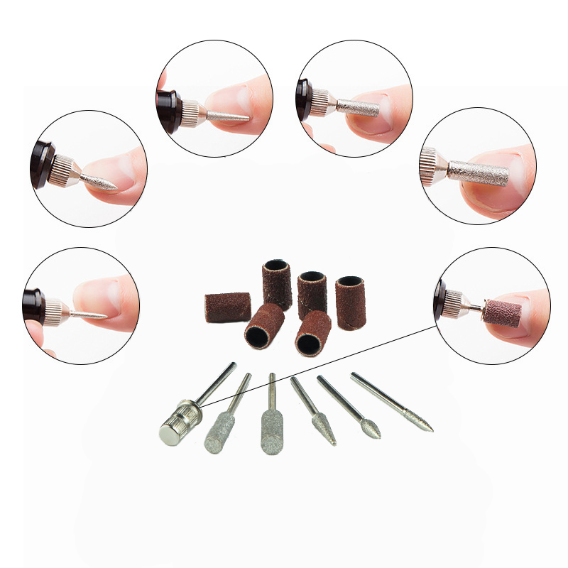 Image 4 - Professional Manicure Machine Electric Nail Drill Bits Set Mill Cutter Nail Art Sanding File Gel Polish Remover Ceramic Cutter-in Electric Manicure Drills from Beauty & Health