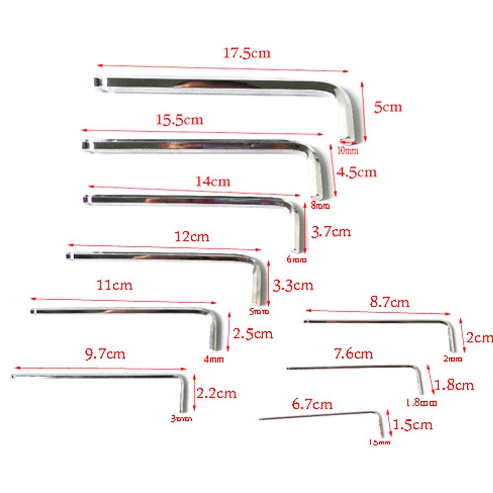 BOSI 1,5-10mm 9tk pikkune kuuskantvõtmega mutrivõtme - Käsitööriistad - Foto 5