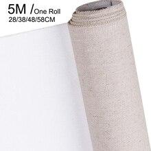 פשתן תערובת דרוך בד ריק עבור שכבה באיכות גבוהה שמן ציור בד עמיד למים פשתן אמנות אספקת עבור אמן 5M גליל אחד