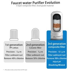 Image 5 - Grifo ALTHY, purificador de filtro de agua para grifo, sistema de purificación compuesto de cocina, minerales alcalinos, elimina el olor a óxido de cloro
