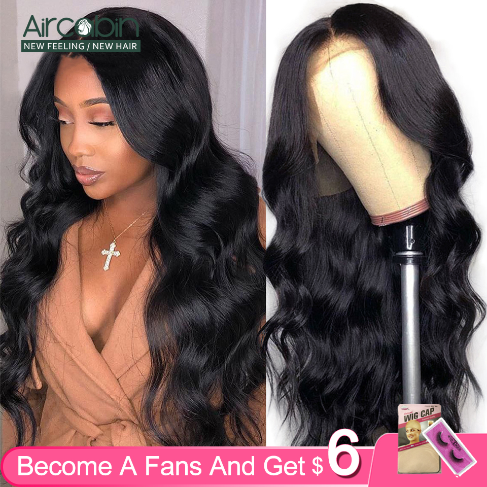 Aircabin 32 30 Inch 13x6 Lace Front Wigs Body Wave Brazilian Human Hair Glueless Lace Closure Wigs For Black Women Non-Remy