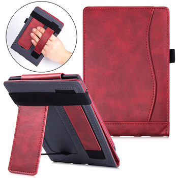 Stand Case for Pocketbook Aqua 2/Touch Lux 3/Basic 3 e-Book,Premium PU Leather Cover 626/641/625 with Hand Strap - discount item  35% OFF Tablet Accessories