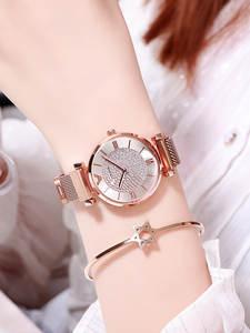 Watches Magnetic Female Clock Diamond Women Bracelet Rose-Gold Ladies Wrist Relogio Feminino