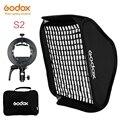 Godox S2 Speedlite Flash-Halter Halterung + Softbox Honeycomb Grid mit Bowens Berg für Godox V1 TT685 V860II TT350 AD200 flash