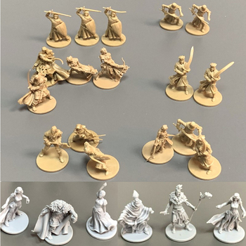 23pcs/Set 28mm Heroes Miniatures Board Game Figures Role Playing Resin Model Boy Toys Gift 4pcs board game knight miniatures role playing figures resin model boy toys collection