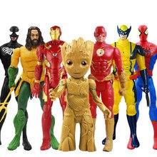 30cm Marvel Avenger Spider-man Hulk Thanos Thor Wolverine Iron man Action Figure PVC Model Doll Hot Toys Christmas Gift for Boys
