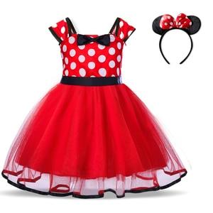 Мини-платье с мышкой для девочек, маскарадный костюм на хэллоуин, платье-пачка принцессы, красный рождественский маскарадный костюм, фантазия
