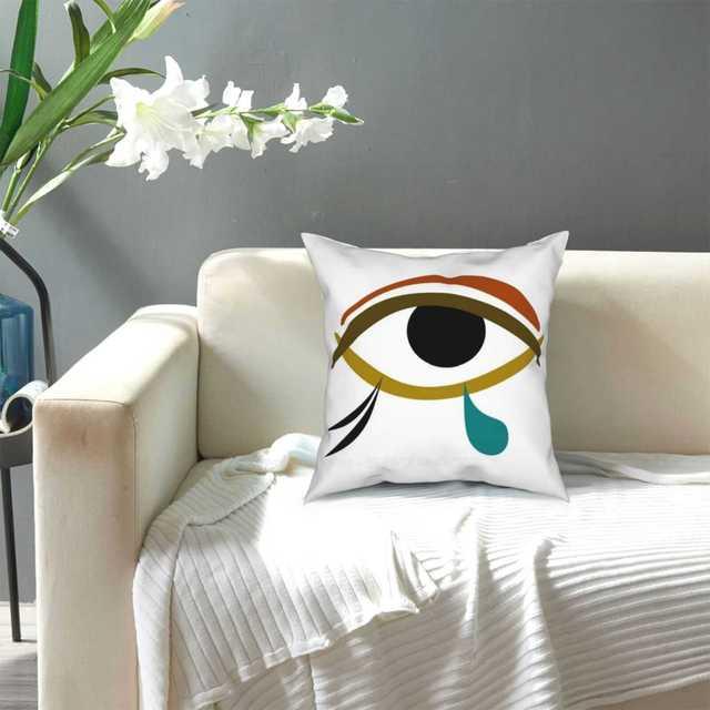 Tear Pillow Cover Hug Pillowcase Tear Tears Eye Egypt Egyptian Abstract Horus Knowledge Charm Wisdom 6