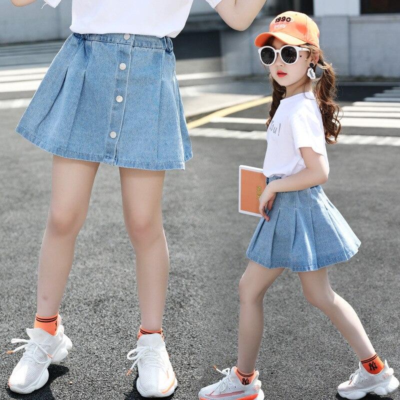 Kids Shorts For Girls Shorts Skirt Children Denim Short Skirt Fashion 2020 Summer Casual Teenage Short A-line Skirt 10 12 Year