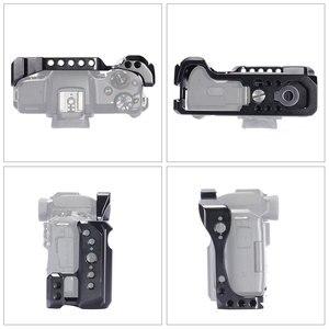 Image 5 - Nato 레일이있는 Canon EOS M50 / M5 케이지 용 SmallRig DSLR 카메라 케이지 퀵 릴리스 어 테치먼트 2168 용 콜드 슈 마운트