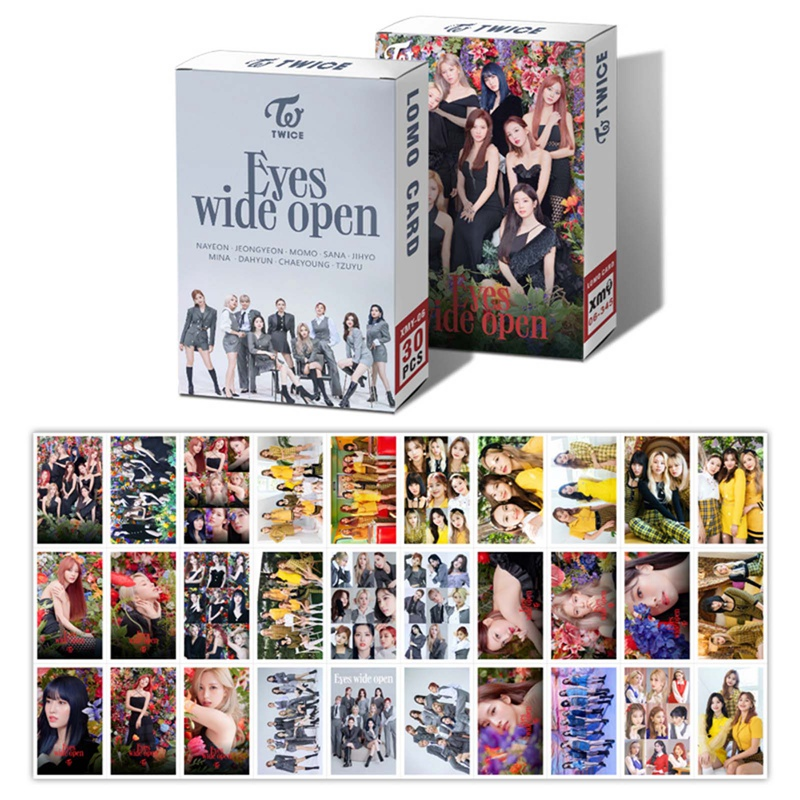Open-Photocard Stationery Kpop Twice Fans Collection New Wide for Ablum Eyes 30pcs/Box